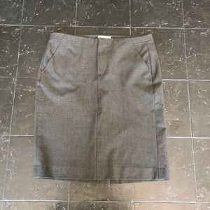 Gray Gap Stretch Pencil Skirt with Pockets Size 0